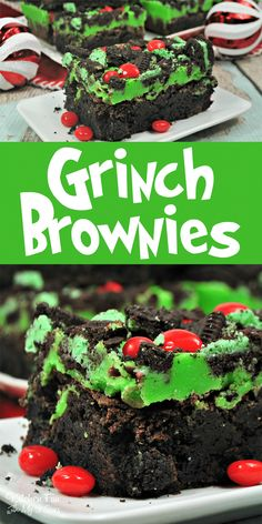 christmas brownies favorite holiday grinch recipe yummy movie for our the Grinch Brownies Yummy Christmas recipe for our favorite holiday movie The GrinchYou can find Christmas dessert recipes and more on our website Dessert Party, Bon Dessert, Dessert Food, Christmas Food Treats, Christmas Cooking, Christmas Brownies, Christmas Parties, Christmas Christmas, Holiday Treats