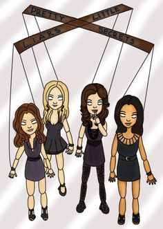 Pretty Little Liars 5: Le Liars versione cartone animato (tutti i fan art) | meltyBuzz