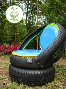 Recycle----tire chair!
