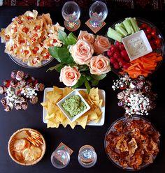 Le week-end dernier j'ai eu le plaisir d'organiser une petite soirée fille chez moi avec quelques gourmandises au menu.