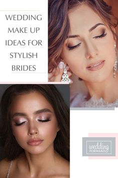 45 Wedding Make Up Ideas For Stylish Brides ♥ Weve created collection of wedding makeup. There are ideas for unique make up, elegant, make up that will be appropriate for different eyes colors. #wedding #makeup #weddingforward #bride #weddingbeauty #weddingmakeup