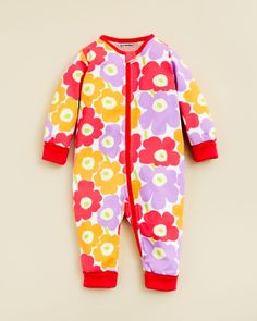Marimekko Infant Girls' Floral Print Coverall - Sizes 3-9 Months