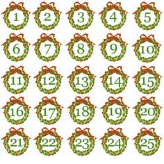 Free printable advent calendar kit advent calendars free freeprintableadventcalendarnumbers saigontimesfo