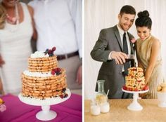 Time for some brunch wedding inspiration! One of the ways that I really think you can have fun at a morning wedding is with the food, and especially when it comes to the cake. Fortunately, there ar…