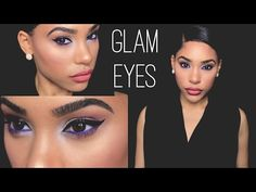 GLAM EYES W/ SUN BLUSHED SKIN (No False eyelashes) - YouTube