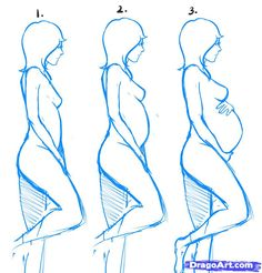 How to Draw Pregnant Women, Step by Step, Figures, People, FREE Online Drawing Tutorial, Added by Dawn, March 7, 2011, 4:39:35 pm