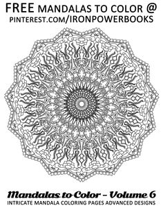 #freemandala #mandalas #spiritualmandalatocolor FREE printable Mandala here at @ironpowerbooks | For more Intricate Mandalas here at http://www.amazon.com/Mandalas-Color-Intricate-Coloring-Advanced/dp/1497344883 Copyright © 2014 IRONPOWER PUBLISHING