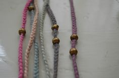 phoebe stout : untold imprint - fog : organic cotton (hand-dyed hand-braided) . brass