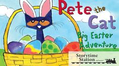 Pete the Cat: Big Easter Adventure by James Dean - Books for kids read a...