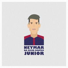 Neymar Vector Flat Illustration