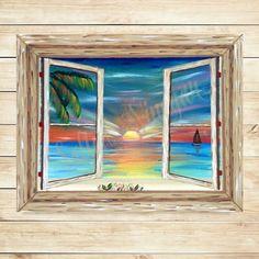 Sunset Painting Sunset Wall Decor Sunset by SaltedVinegarStudios
