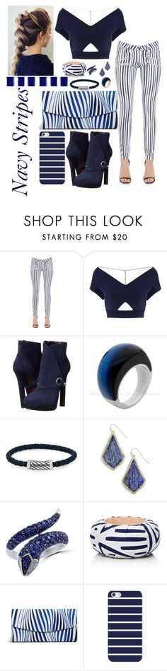 """""""Navy Stripes! #145"""" by jillfashionpill ❤ liked on Polyvore featuring Paige Denim, Roland Mouret, Alexander McQueen, Oxford Ivy, Kendra Scott, Effy Jewelry, Mola SaSa, Vera Bradley and Casetify"""