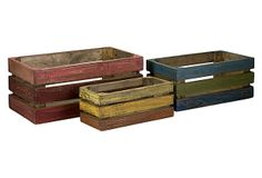 Midway Wood Crates, Asst. of 3 on OneKingsLane.com
