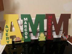 Monograms for kids.