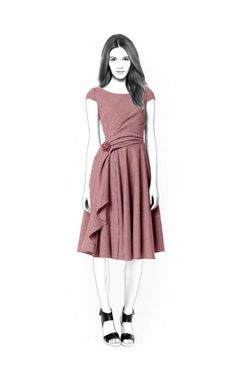 Lekala 4416 - Kleid PDF Muster, Nähmuster PDF, Maßgeschneiderte Schnittmuster für den Privaten und Kommerziellen Gebrauch