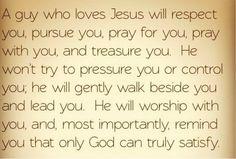 A Christian guy.