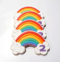 Rainbow Cookies for my sweet girl!!...