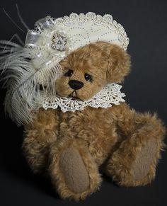 Aloisa - Created from dense whirly mohair - about 13 inches. #artistbear #artistbears #teddybear #teddy #handmade