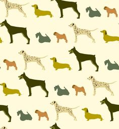 dog pattern by Troismiettes on Spoonflower