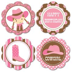 Baby+Cowgirl+Cupcake+Toppers | Topper para Cupcake (Nuevos #8, 11, 13, 15, 20, 23, 27 y 29)