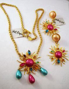Dominique Aurientus  Paris Sunburst Necklace and by YosFinds