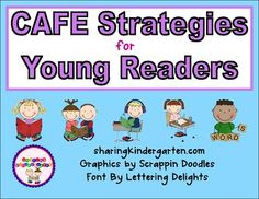 Strategies signs for CAFE... for young readers! Very visual and easy!!! You use these to teach/review/refer to a strategy that student will be working!