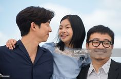 Gong Yoo, Kim Su-an and director Yeon Sang-ho attend the 'Train To Busan (Bu_San-Haeng)' Photocall at the annual 69th Cannes Film Festival at Palais des Festivals on May 12, 2016 in Cannes, France.