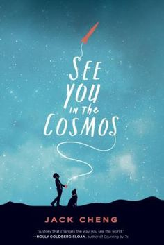 See you in the cosmos by Jack Cheng. Eleven-year-old Alex Petroski, along with his dog, Carl Sagan, makes big discoveries about his family on a road trip and he records it all on a golden iPod he intends to launch into space.