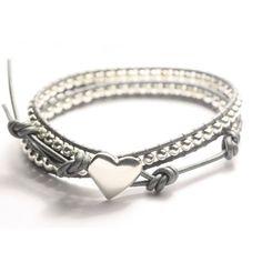 Sterling silver beaded bracelet Exclusive by simplyyoujewelry, $48.00