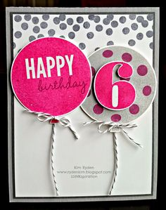Celebrate Today Tip, Stampin' Up!, Happy Birthday, Kim Ryden, Stamping with Kim, Birthday Balloons, Celebrate Today