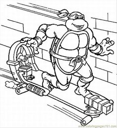 TMNT Coloring Pages Printable | ... Pages 3 Lrg (Cartoons > Ninja Turtles) - free printable coloring page