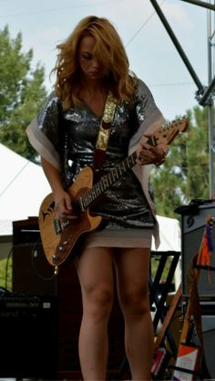 """Samantha Fish, """"goddess"""" Rocker Girl, Rocker Chick, Women Of Rock, Guitar Girl, Blues Artists, Female Guitarist, Blues Rock, Manchester United Legends, Tight Dresses"""