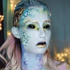 Extraterrestrial Mermaid Makeup Look