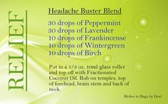I would probably reduce the oil drops and add a carrier oil. Headache Buster Blend with Essential Oils