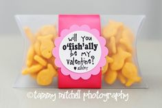 Cute Valentine or change the tag and use for first day of school- o'fish-ally a Kindergartner