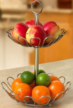 Fruit bowls bowls and kitchen dining on pinterest - Tiered fruit bowl ...