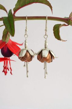 These stunning Fuchsia earrings made from sterling silver and copper by Janie have been chosen as our winning Design of the Week entry - well done Janie, they are beautiful!