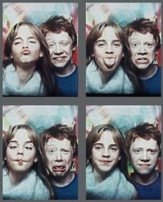 Emma Watson (Hermione Granger) and Rupert Grint (Ron Weasley). Harry Potter Cinema, Images Harry Potter, Mundo Harry Potter, Harry Potter Cast, Harry Potter Quotes, Harry Potter Love, Harry Potter Fandom, Harry Potter Characters, Hogwarts