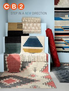 CB2 - August Catalog - fun pillows, rugs, and lighting to update my look for the new house