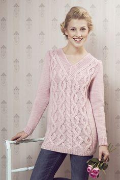 Flätstickad tröja för dam Novita Isoveli | Novita knits