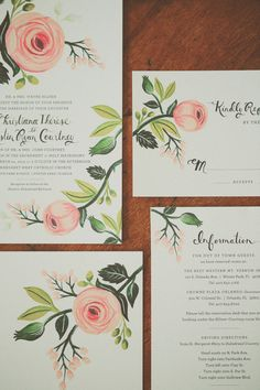 up close view of rifle paper co suite { via @wedding chicks }
