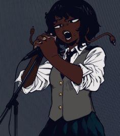 Black Cartoon Characters, Black Girl Cartoon, Manga Characters, Black Love Art, Black Girl Art, Art Girl, Black Girls, Black Art Pictures, Cute Profile Pictures