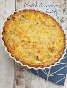 Chicken Sweetcorn Quiche recipe by Fatima posted on 07 Jan 2020 . Recipe has a rating of by 2 members and the recipe belongs in the Appetizer, Sides, Starters recipes category Chicken Quiche, Baked Omelette, Wheat Free Recipes, Quiche Recipes, Food Categories, Butter Chicken, Food Porn, Tasty, Stuffed Peppers