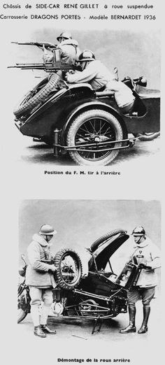 1936 René Gillet tableau 3 Harley Davidson, Gillet, Side Car, Bike Poster, French Army, Military Photos, Old Bikes, Easy Rider, Expositions