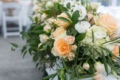 top table garland made by Love Stomp floral New Zealand wedding. Wedding Peach, Wedding Sets, Wedding Reception Flowers, Wedding Venues, Table Garland, Table Decorations, Love, Floral, Photography