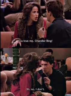 love this clash ^^ Friends Season 1, Friends Episodes, Friends Moments, Friends Series, Friends Tv Show, Friends Forever, Chandler Friends, Janice Friends, Best Comedy Shows