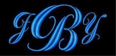 Fancy Scroll Script Machine Embroidery Monogram Font Set - Free Email Delivery. $11.99, via Etsy.