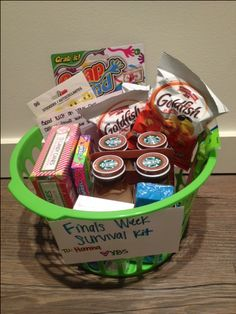 Finals Survival Kit for my little! super easy, and everything is from the dollar