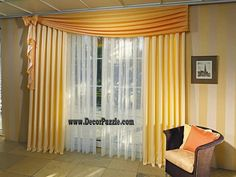 modern yellow curtain styles designs 2015 for living room