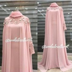 Image may contain: one or more people and people standing Muslimah Wedding Dress, Muslim Wedding Dresses, Muslim Dress, Wedding Abaya, Hijab Dress Party, Hijab Style Dress, Mode Abaya, Mode Hijab, Abaya Fashion
